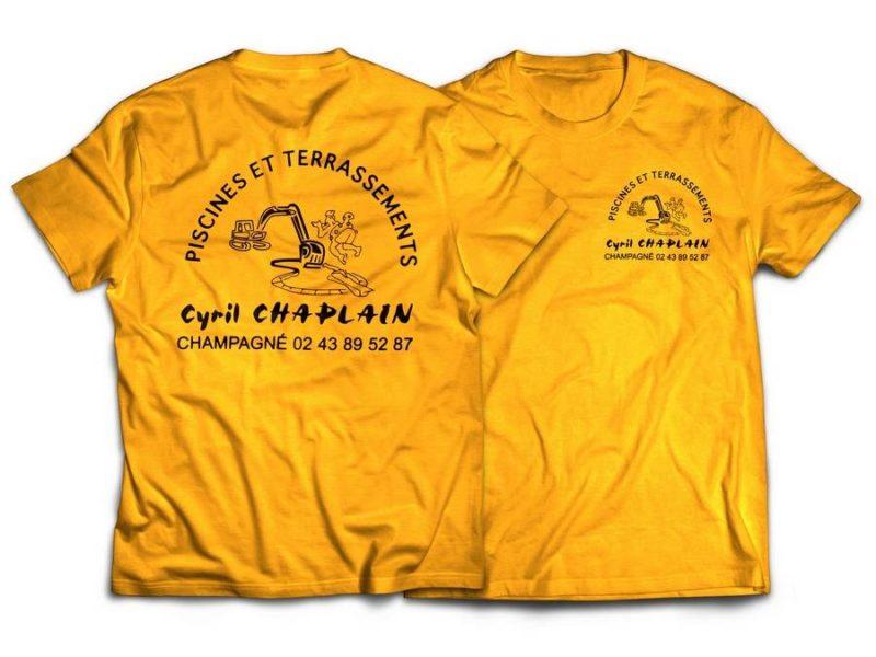 Flocage T-shirt entreprise Chaplain