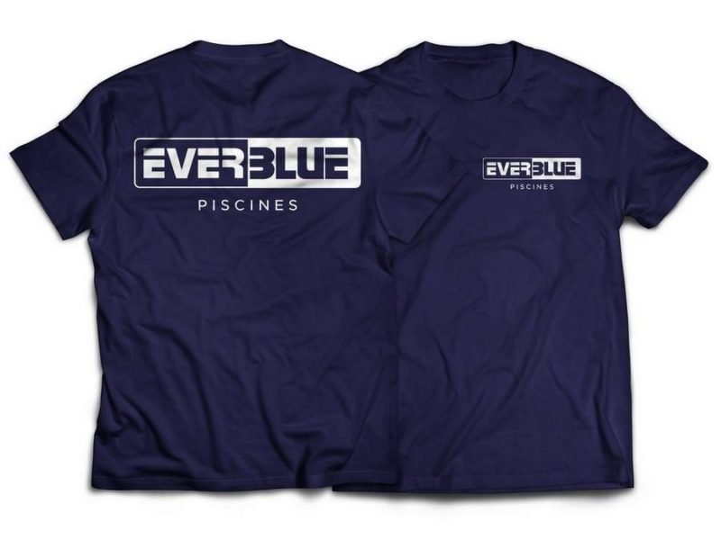 Flocage T-shirt entreprise Everblue
