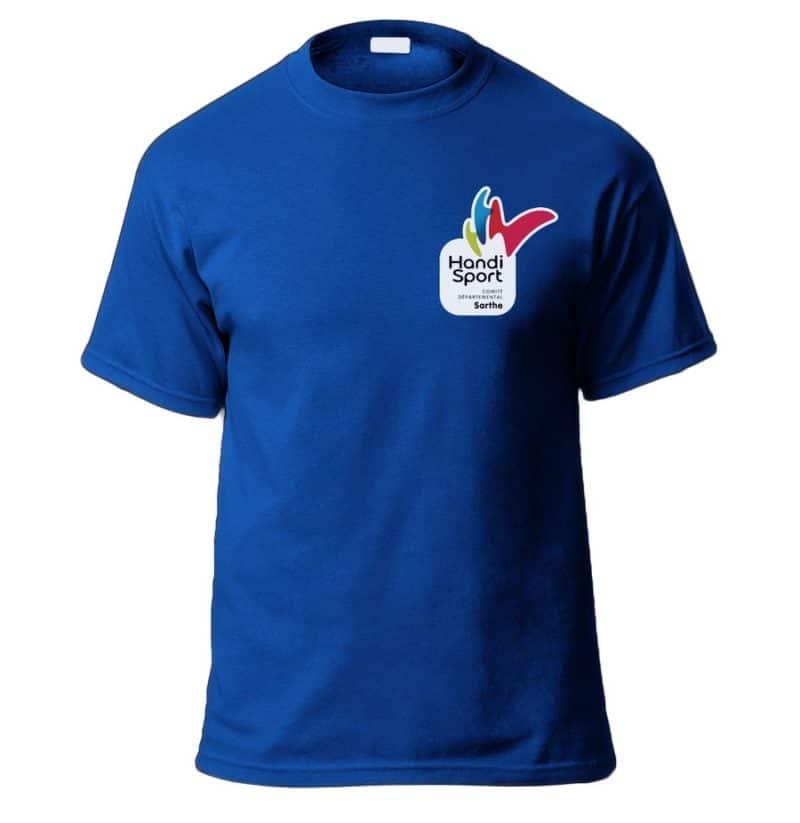 Flocage t-shirt Handisport 72
